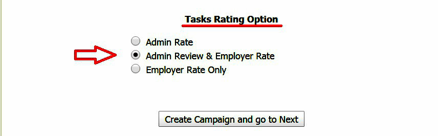 tasks rating options