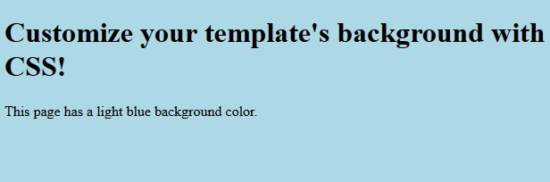 Customize Background color Output