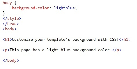 Customize Background color